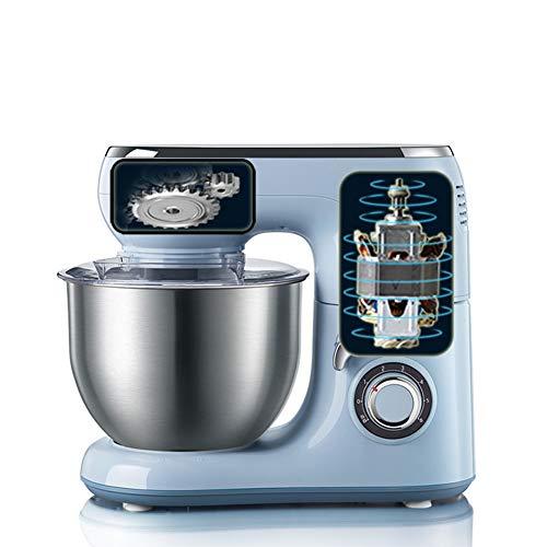 WZYJ Küchenmaschine 5L Powerful 1000W Rührbesen 304 Edelstahl Küchenmaschine Mischer elektrische 6 Mischgeschwindigkeit Low Noise Handmixer Elektrisch Elektrisch Stabmixer