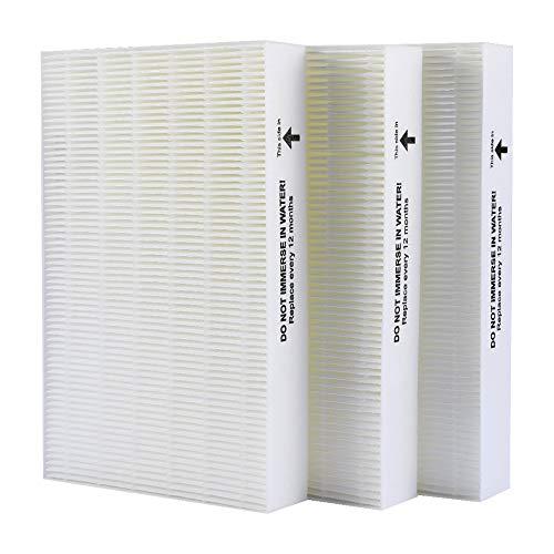 Chomolungma True HEPA Filtro de repuesto compatible con Honeywell HPA300, HPA200, HPA100, HPA090 Series Purificador de aire, Filtro R (HRF-R3 y HRF-R2 y HRF-R1), paquete de 3