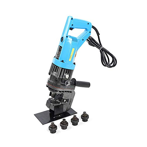 Electric Hydraulic Hole Puncher 900W Tools Dies Set, Hole Digger for Copper/Aluminum Plate, Iron/Steel Plate, Channel Steel, Angle Steel Puncher Press Machine w/ 5-Dies Set and Carry Case USA STOCK