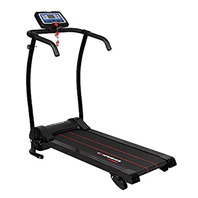 Confidence Power Trac Pro 735W Motorized Electric Folding Treadmill Running Machine with 3 Manual Incline Settings NHCFT-1600 by Confidence