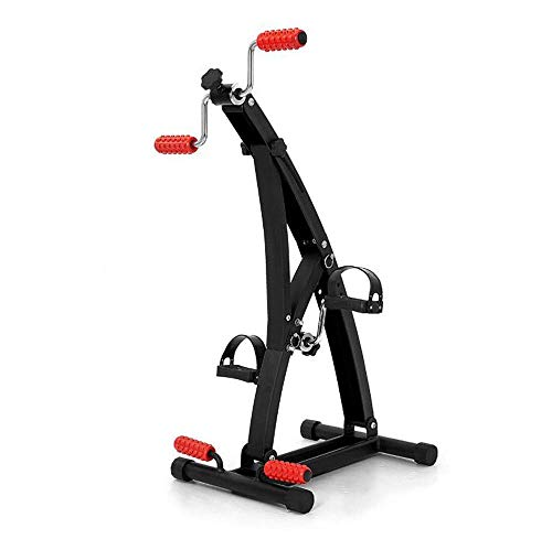 XBSLJ Mini Exercise Bike Medical Pedal Exerciser-Portable Foot, Hand, Arm, Leg Exercise Pedaling Machine with Hand and Foot Massage Roller, Fitness Rehab Equipment for Seniors, Elderly, Patient