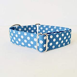 4GUAUS Collar Martingale para Perros - Modelo Lunares Azul
