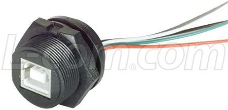 L-com WPUSB Series Waterproof USB Type B Jack with 10