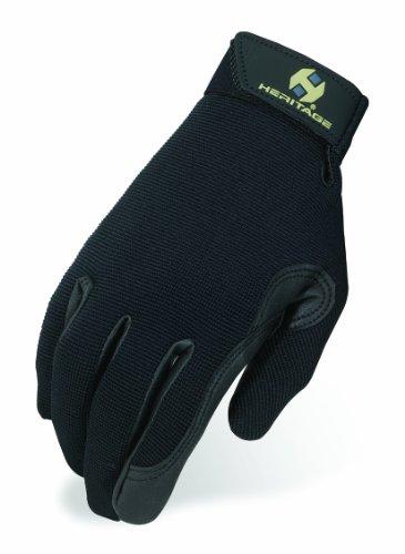 Heritage Performance Gloves, Size 8, Black