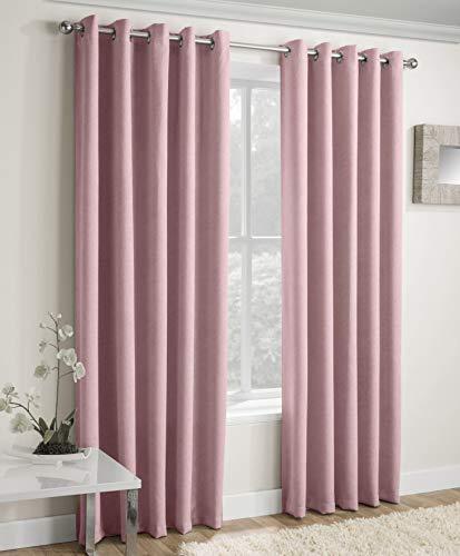 Enhanced Living Vogue Blush, Eyelet Curtain, Eyelet, Thermal, Blockout Curtain (Width - 66