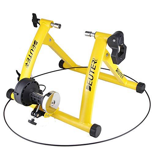 """HUATXING Ciclismo Trainer Home Formazione Esercizio Indoor 26-28\"""" Trainer Stazione Fitness Magnetico resistenze della Bicicletta Trainer Rulli,Giallo"""