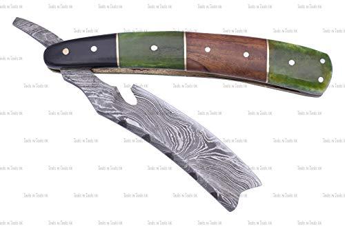 DAM-004 Rasiermesser, Damaststahl, gerade, mit Griff