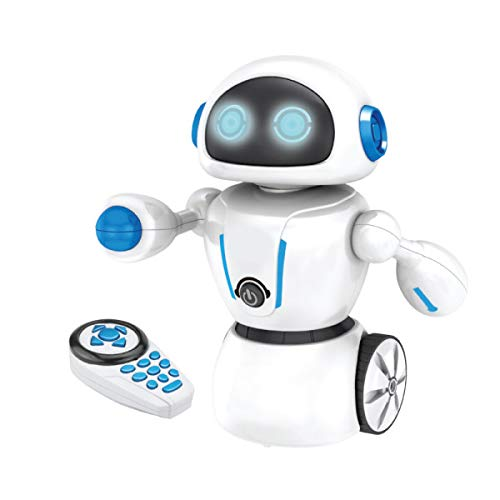 Kids Tech Va90080 Interactive Maze Master Robot w/ Remote Control & Path-Drawing Pen, Battery Powered Toy, Dances to Music, Included Pen & It Will Follow It, Remote Controlled, White