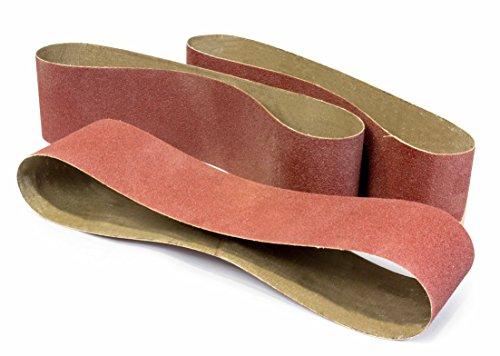 WEN 648SB120 6 x 48-Inch 120-Grit Belt Sander Sandpaper, 3-Pack