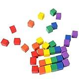 Artibetter cubi Quadrati Fai da Te cubetti Artigianali in Legno Blocchi Quadrati Colorati Fai da Te per Bambini Adulti Che Giocano 100 Pezzi