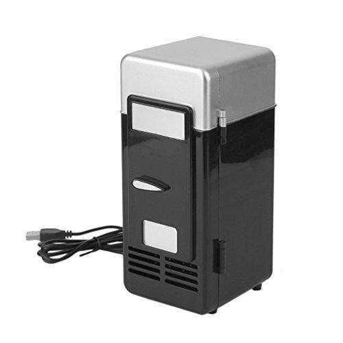 3 Colores Abs 194 * 90 * 90Mm Ahorro de energía y ecológico 5V 10W USB Car Portable Mini Drink Cooler Car Boat Travel Refrigerador cosmético (Negro)