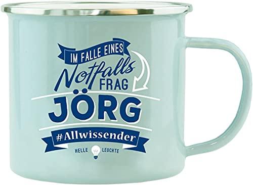 History & Heraldry Echter Kerl - Emaille Becher Jörg - individuelle Tasse mit Name und Spruch