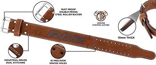 Authentisch RDX Gewichthebergürtel Nubuk Leder Kraft Gewichtheben Strap Rückenstütze DE - 7