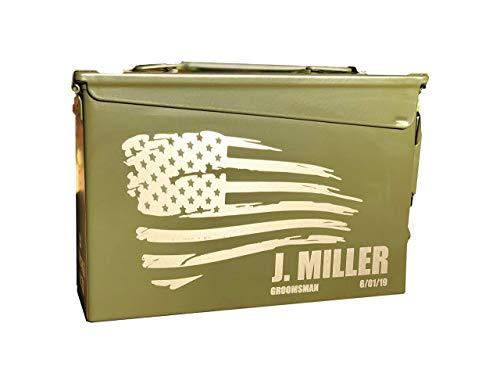 Personalized Engraved Ammo Can Storage Box Custom, groomsman, Groomsmen Gift (30 Cal)