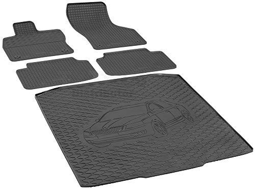 Passende Gummimatten und Kofferraumwanne Set geeignet für Skoda Octavia III Kombi ab 2013ein Satz + Gurtschoner