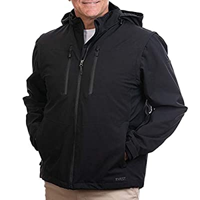 SCOTTeVEST Revolution 2.0 - Warm Utility Jacket - Pickpocket Proof Clothing L Black from
