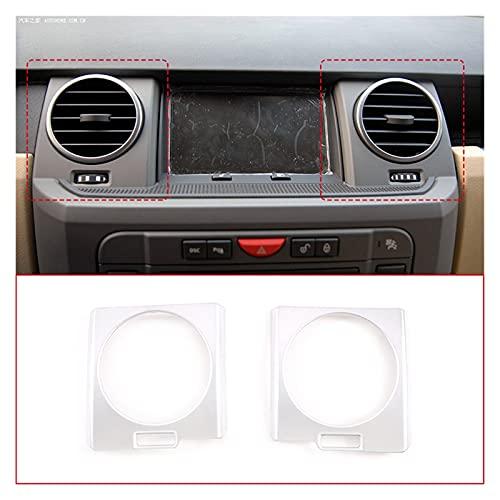 ZXCVBN wahawa Addominali Auto Cromato Controllo Centrale Condizionatore d'Aria Air Outlet Frame Cover Trim Fit for Land Rover Discovery 3 04-09 Accessori Interni (Color Name : Silver)