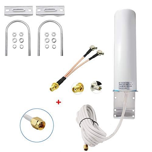 High Gain 10-12dBi External SMA Male/Dual TS9 3G 4G LTE Bracket Mount Long Range Antenna for Netgear Nighthawk M1 MR1100 Verizon Jetpack 8800L Mobile Hotpots Router MiFi Mobile Hotspot 4G LTE Router