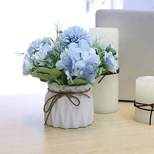 Artificial Flowers in White Vase – Peony Artificial Flowers, Artificial...