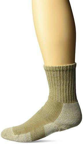 Thorlos Women's WLTHW Light Hiking Thick Padded Wool Crew Sock, Khaki, Medium