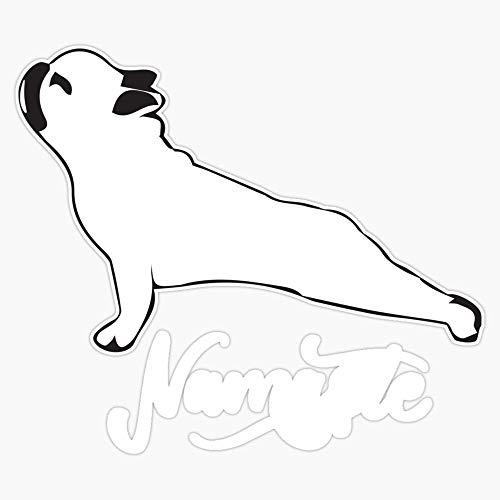 Namaste French Bulldog Yoga Gift For Dog Lovers Funny Cute Sticker Vinyl Bumper Sticker Decal Waterproof 5'