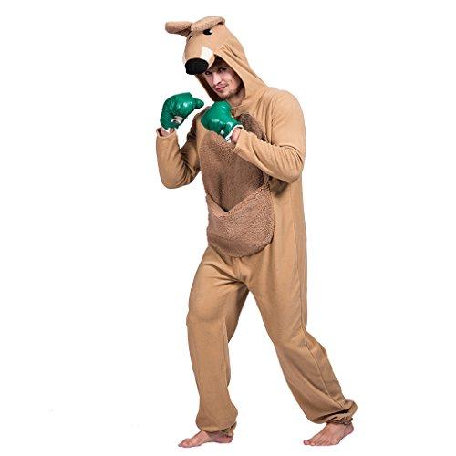 EraSpooky Unisex Känguru Kostüm Anime Tier Cosplay Erwachsene Schlafanzug Karikatur Halloween Nachtwäsche