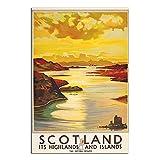 ASFGH Schottland Vintage Reise Poster Dekor Malerei Poster