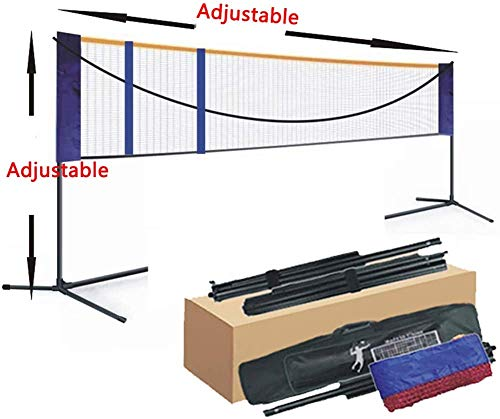 XIAOWANG Easy Badmintonnetz -Badminton Set Netz Tragbares Badmintonnetz Tennisnetz Volleyballnetz Outdoor für Garten Strand Picknick mit Faltbar Netz Rack,6.1m