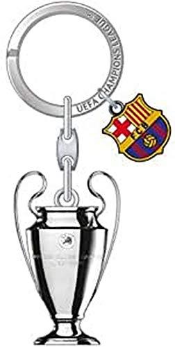 UEFA Champions League Barcelona LLavero, Metal, 9 cm