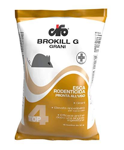 CIFO Veleno per Topi - Topicida Brokill in Grani, Veleno per Topi, Professionale e Potente, Repellente Topi, Veleno per Trappola per Topi, Anti Topo Veleno per Ratti, Confezione da 150g