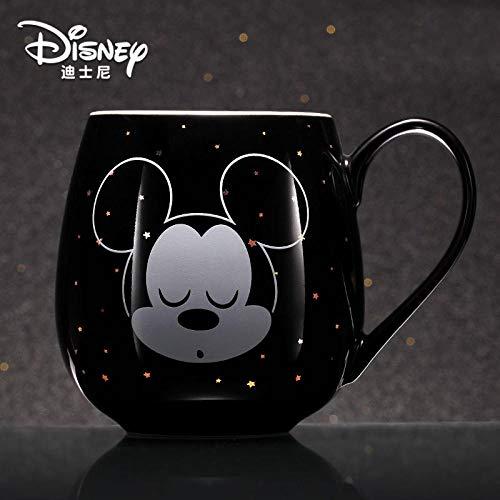 430 Ml Disney Mickey Mouse Minnie Mouse Cartoon Kaffeetassen Süße Keramikschale Mit Deckel Kaffeetasse Mit Großer Kapazität Und Löffelabdeckung-Mickey_A_430_Ml
