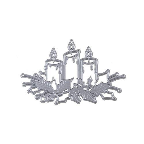 RIsxffp Stanzschablone aus Metall für Kerzen DIY Scrapbook Relief-Karten Papierschablone silberfarben