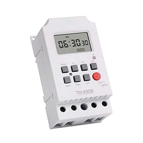 Programmierbare Zeitschaltuhr, elektronisches Relais, digital, wöchentliche Leistung, direkter Ausgang, TM630S-4, LCD-Display, 12 V
