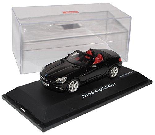 Preisvergleich Produktbild Schuco Mercedes-Benz SLK Cabrio Schwarz R172 Ab 2011 1 / 43 Modell Auto mit individiuellem Wunschkennzeichen