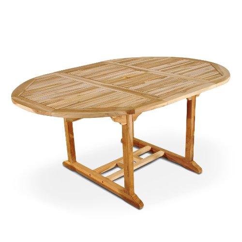 SAM Gartentisch Aruba, Auszieh-Tisch aus Teak-Holz (180-240 cm) Massivholz für Garten oder Terrasse