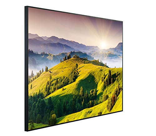 InfrarotPro C24-1200 | Infrarotheizung 1200 Watt Bildheizung 300+ Motive | Made in Germany | Geprüfte Technik | Ultra-HD Auflösung, B13: Landschaft Allgäu, 115x100x3cm