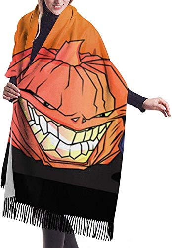 zengdou - Bufanda de Halloween para mujer, con escote y sonajero