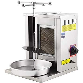 Capacidad de la carne 8 kg / 17 lbPropane Gas (LPG) 1 parrilla giratoria vertical de Shawarma Gyro Doner KebabTacos Al Pastor máquina de parrilla para uso doméstico (pequeño)