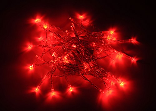 Karlling Battery Operated Red 40 LED Fairy Light String Wedding Party Xmas Christmas Decorations(Red)