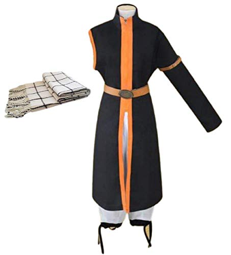 GK-O Fairy Tail Costume Natsu Dragneel 3rd Ver Cosplay Halloween (Asian Size M) Black and Orange