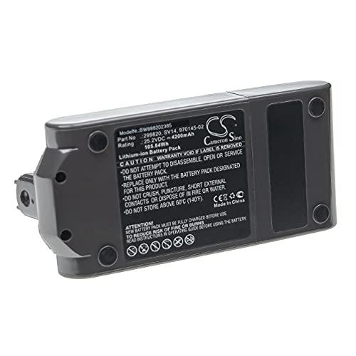vhbw Batería Recargable Compatible con Dyson V11 Absolute Extra, V11 Absolute Pro aspiradora, Robot de Limpieza (4200 mAh, 25,2 V, Li-Ion)