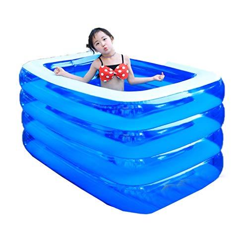 JCCOZ -URG - Piscina inflable para niños, piscina de bolas de océano, piscina infantil, material de PVC grueso resistente al desgaste, exterior, jardín, patio trasero portátil URG