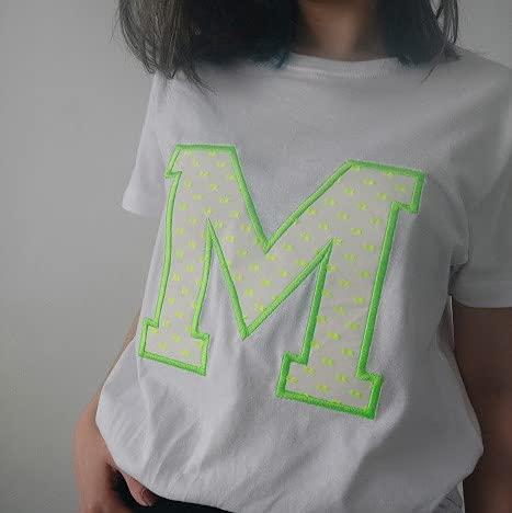 Camiseta Personalizada Inicial (XXL, Blanco)