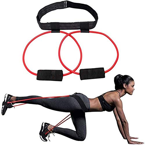Booty Band Gürtel, Fitness Booty Bands Power Butt Übung, Resistance Band Muscle Waist Belt - Verstellbare Workout Loop Damen Elastic Muscles Trainer Fitness Body Glute Lifter Übung für Frauen Glute