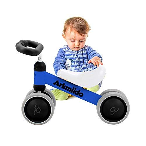 Soul hill Baby-Balancen-Fahrrad, Fahrt auf Fahrräder, Kinderfahrrad, Rutschen Bike 4 Wheel, Trike Kleinkind Walker Farbe Rot 1-3 Jahre alt (blau) zcaqtajro (Color : Blue/Black)
