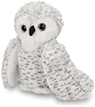 Bearington Owlfred Plush Stuffed Animal White Snowy Owl, 11 inches