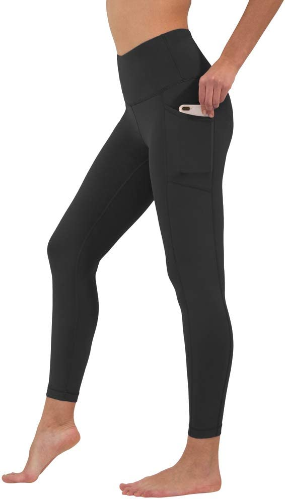 90 Degree By Reflex High Waist Tummy Control Squat Proof Ankle Length Leggings with Pockets
