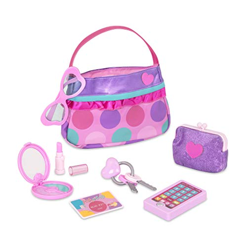 Play Circle by Battat  Princess Purse Style Set  Pretend Play Multicolor Handbag and Fashion Accessories  Toy Makeup, Keys, Lipstick, Credit Card, Phone, and More for Kids Ages 3 and Up (8 pieces)