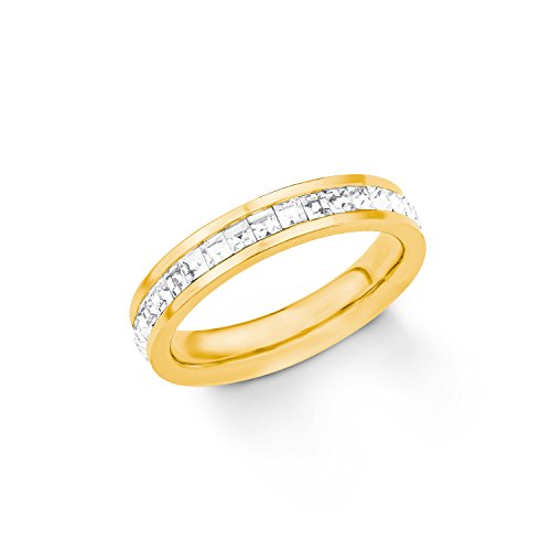 s.Oliver Ring für Damen Edelstahl IP gold
