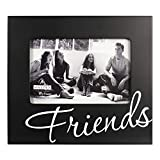 Malden International Designs Friends in Cursive Words Picture Frames, 4x6, Black